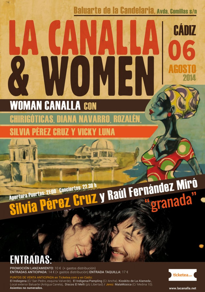 La Canalla Cadiz Woman Canalla + Silvia Perez Cruz