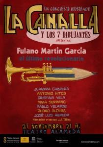 Cartel La Canalla y los 7 dibujantes